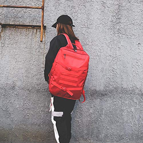 Unisex Backpack Nylon Occitop Sports Travel Men Women Shoulder Bags Handbag Red xtpPdwPFIq