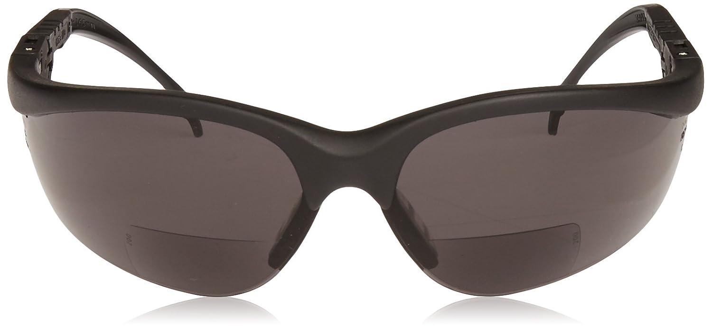 Crews K3H20G Klondike Plus Magnifier Polycarbonate Dual Bi-Focal Lens Glasses with Black Frame and 2.0 Diopter Gray Lens 1-Pair
