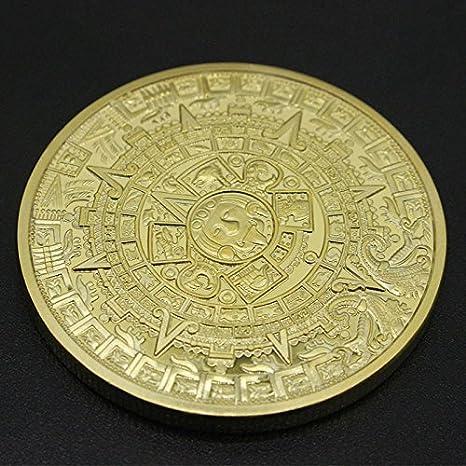pinzhi1/x or Argent/é Aztec Maya calendrier pi/èce comm/émorative Souvenir Collection Cadeau