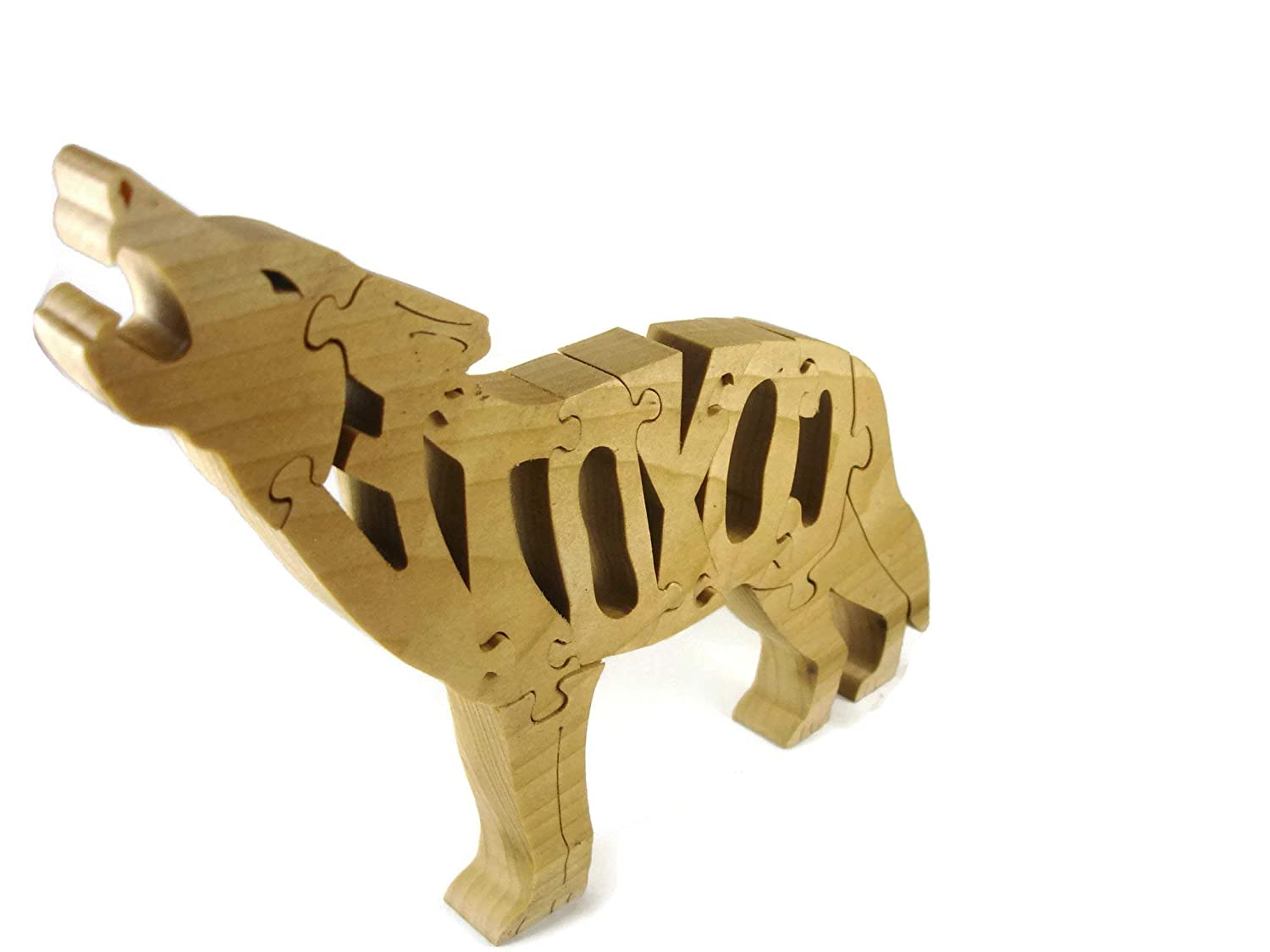 Coyote Free Standing Wood Jigsaw Puzzle Handcrafted From Poplar Hardwood