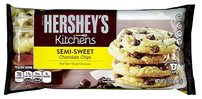Hershey\'s Kitchens Semi Sweet Chocolate Chips 340g 12oz: Amazon.co ...