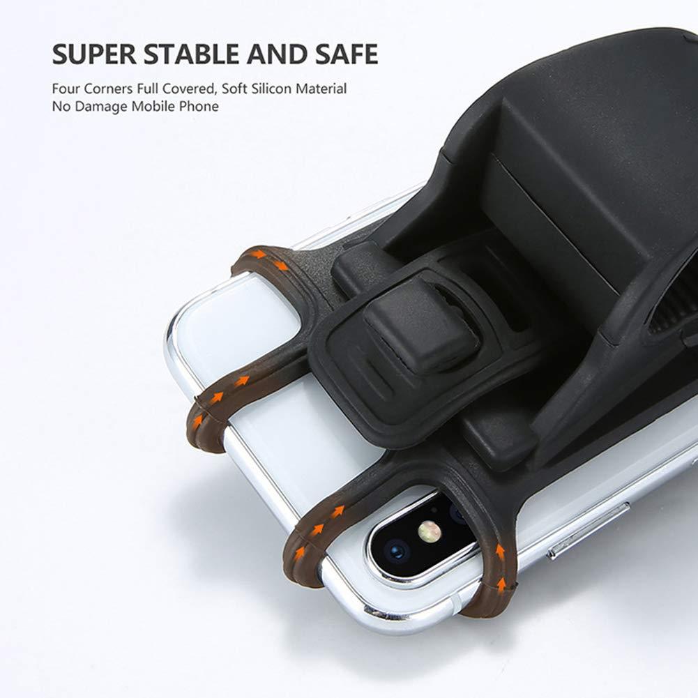 Motorrad Handyhalterung,Silikon Fahrrad Universal Lenker Handyhalterung St/änder Halterung Halter f/ür 4.0-6.3 Zoll Smartphone mit 360/° Drehbar Hereforth Fahrrad Handyhalterung