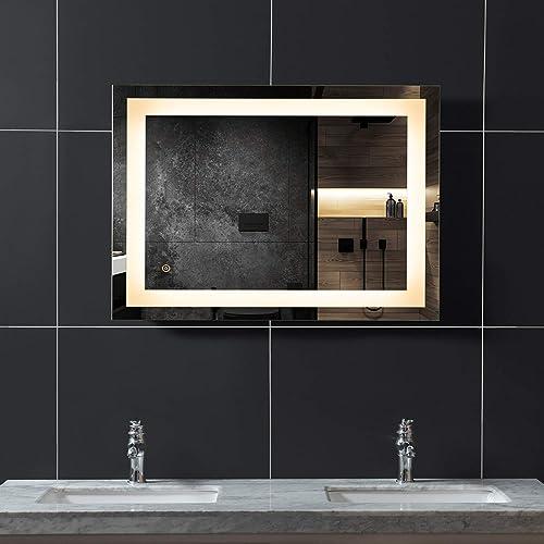 WINGBO 28×36 inch LED Bathroom Mirror
