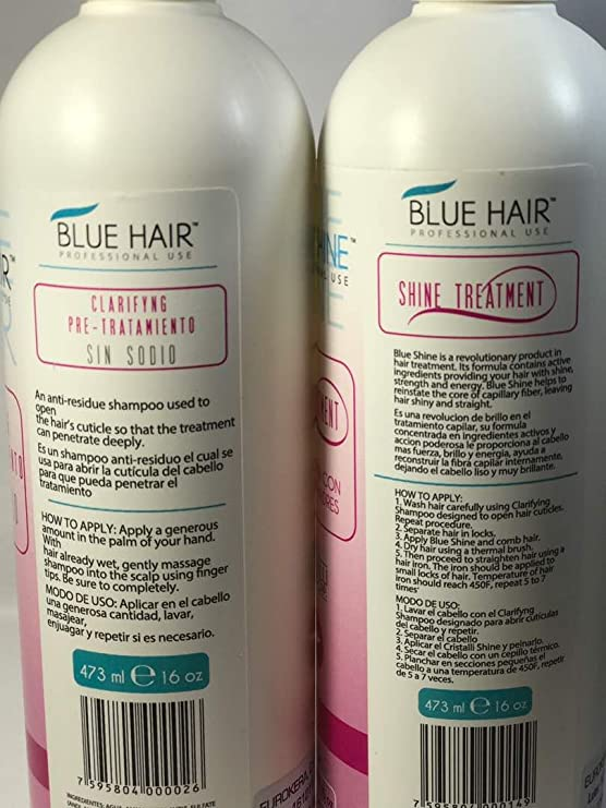 Cirugía Capilar Blue Hair CÉLULAS MADRES 2 pasos (16 Oz) 473 ML SHAMPO-ALISADOR
