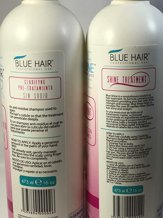 Amazon.com: Cirugía Capilar Blue Hair CÉLULAS MADRES 2 pasos (16 Oz) 473 ML SHAMPO-ALISADOR: Everything Else