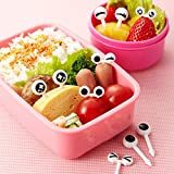 TR.OD Food Fruit Picks Forks Lunch Box Accessory Decor Tool, 10pcs Cute Eyes Design