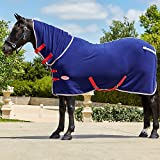 horse cooler 87 - Weatherbeeta Fleece Cooler Combo Neck Navy/Silver/Red 87