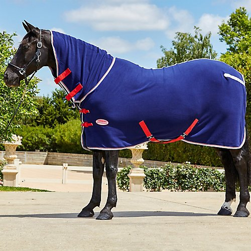 Weatherbeeta Fleece Cooler Combo Neck 75 Navy/Silv Weatherbeeta Cooler