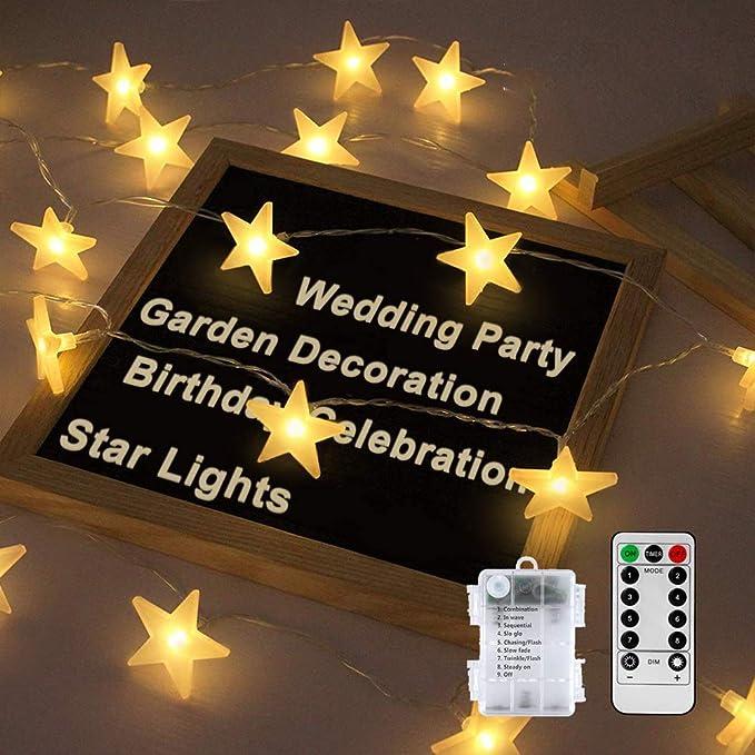Led Lichterkette Sterne Nasharia Lichterketten 8 Modi 30er Sterne Led Lichterkette Mit Usb Port Ladung Und Batteriebetrieben Warmweiß Lichterketten Für Zimmer Innenbeleuchtung Weihnachten 20led Beleuchtung