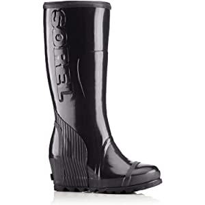 SOREL Sorel Joan Rain Wedge Women Round Toe Synthetic Black Winter Boot from Walmart | more