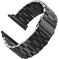 LNKOO Stainless Steel Metal Clasp Watchbands Replacement Wrist Strap Classic Buckle Polishing Watch Band