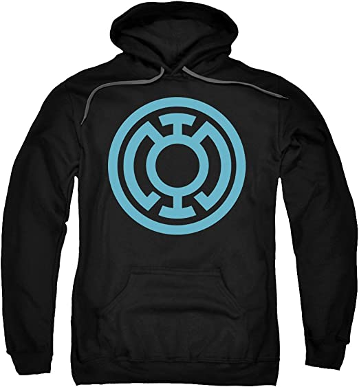 Green Lantern Logo Green Flame DC Comics Licensed Adult Pullover Hoodie