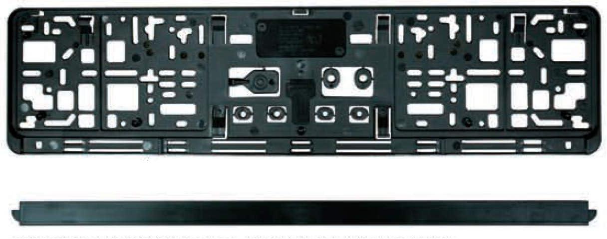 2x KFZ PKW KURZ 46cm Universal Nummernschildhalter Kennzeichen Halter Träger Set