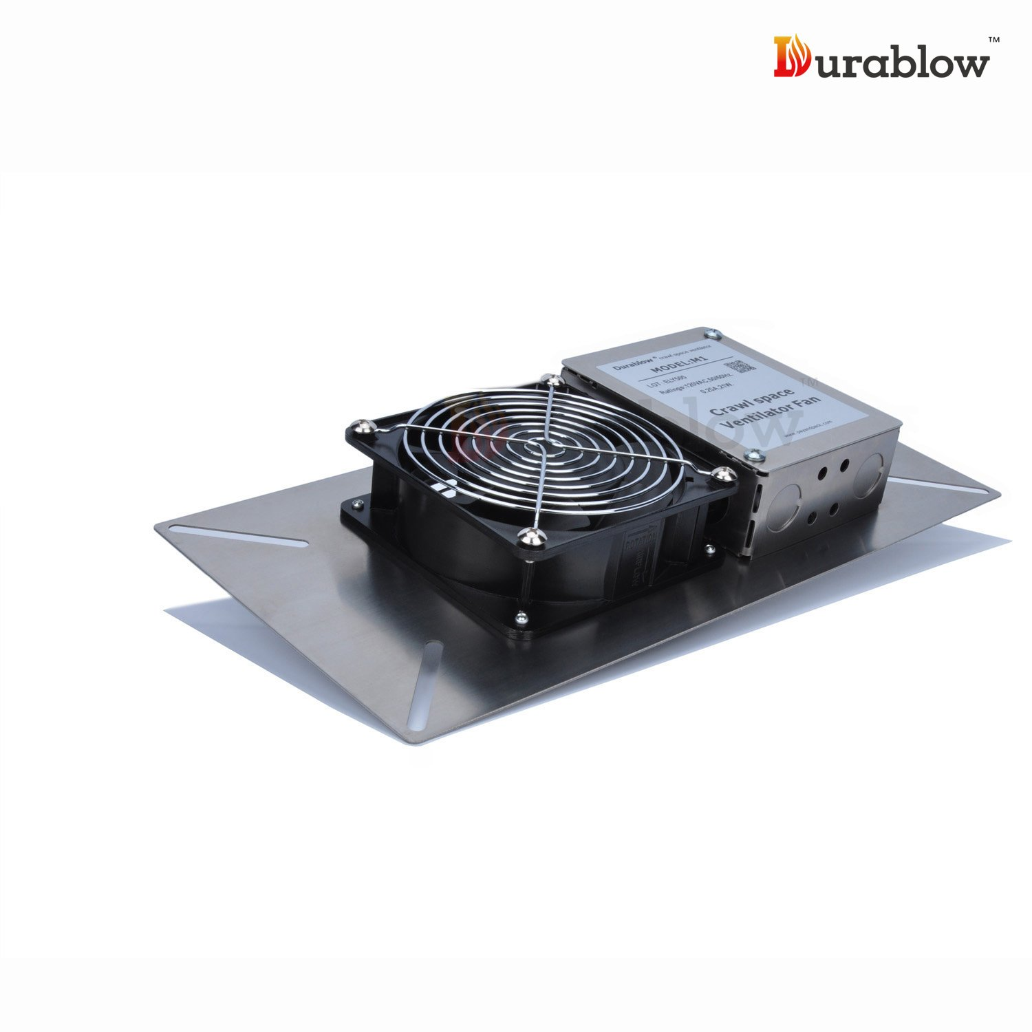 Durablow Stainless Steel 304 Crawl Space Foundation Fan Ventilator MFB M1 by Durablow (Image #2)