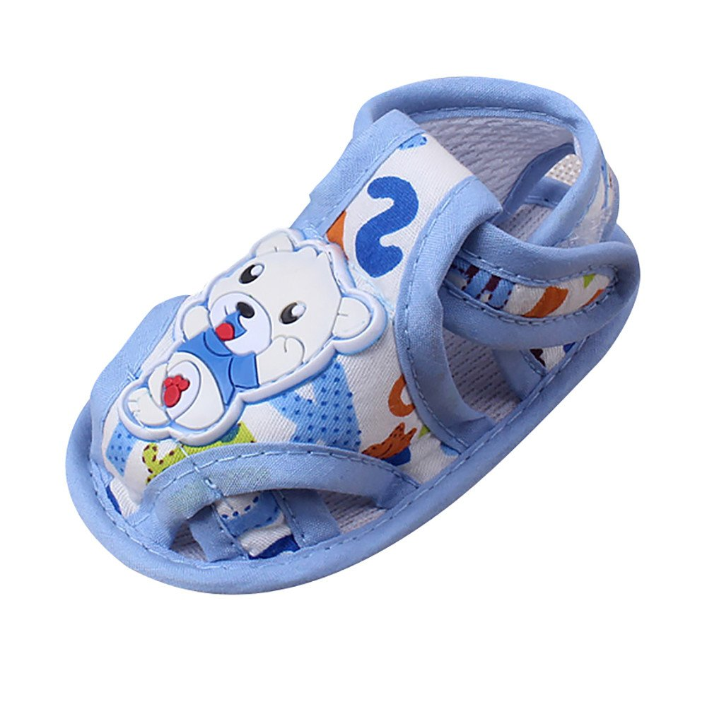 Hot Sale!Summer Sandals,Todaies Baby Soft Sole Cartoon Anti-slip Casual Shoes Girl Boy Toddler Sandals 2018 (0-6 Month, Blue)