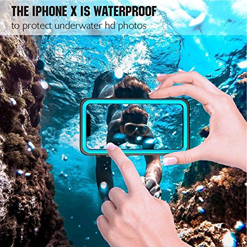 san francisco e88d7 c3fbe Moskee iPhone X Waterproof Case,High Precision Upgraded IP68 Full Body  Underwater Protective Case with Sensitive Fingerprint(Wireless Charging ...