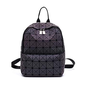 c7c923afe6349 Frauen Geometrisch Leuchtend Rucksack Damen Fashion Taschen Lingge Flash  Reise Schule College Rucksack 01S