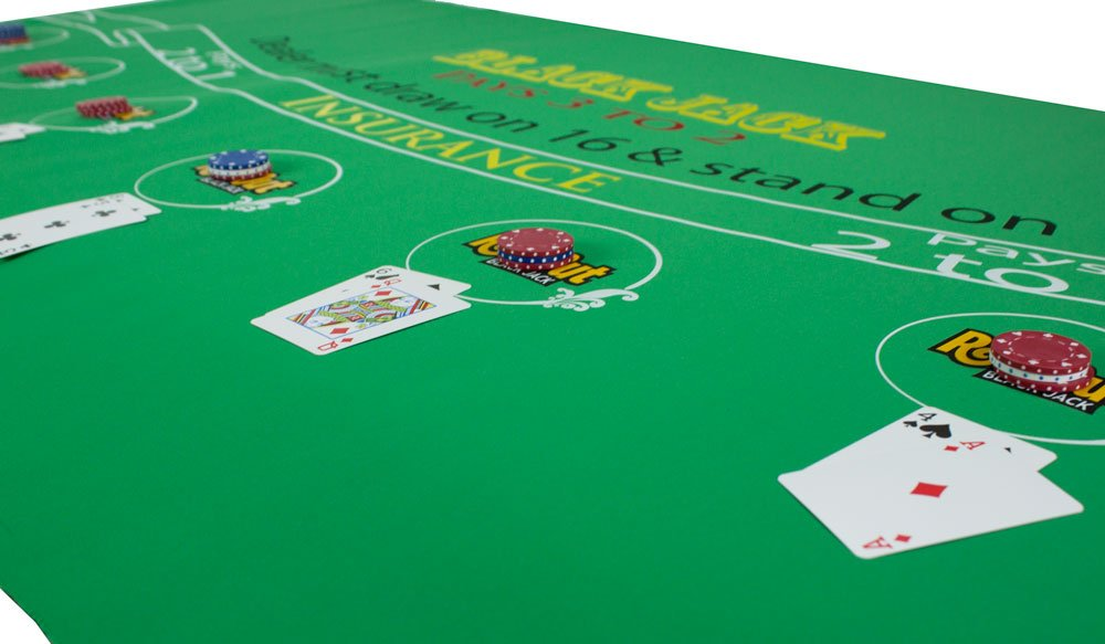 Amazon.com : Roll Out Gaming Blackjack Table Top : Casino Table Accessories  : Sports U0026 Outdoors