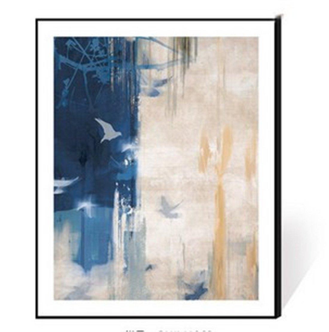 forma única YIZHANGEstilo Minimalista Moderno de la Sala de Estar Estar Estar de Que Pinta la Pintura Minimalista Moderna del Marco de Aluminio Que Pinta la Pintura Mural del Tono Azul Abstracto (los 35  45cm), b  muchas sorpresas