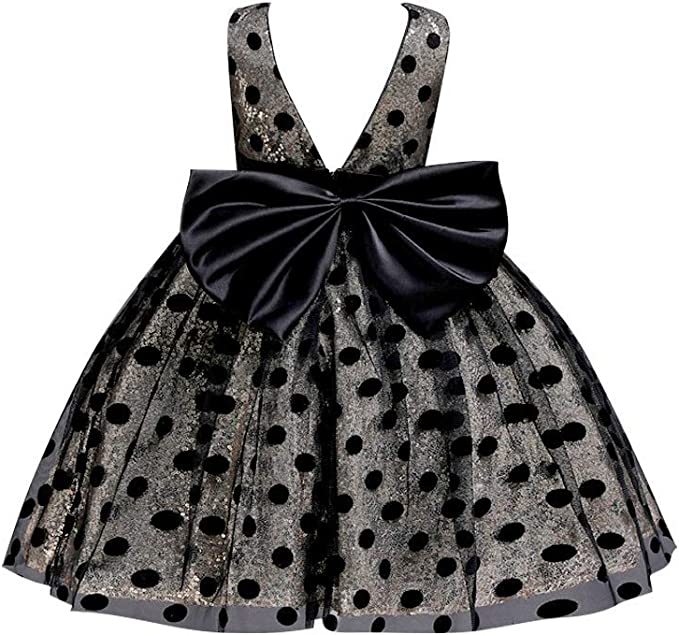 Sequin Toddler Baby Girls Sleeveless Bowknot Princess Tutu Pageant Party Dresses