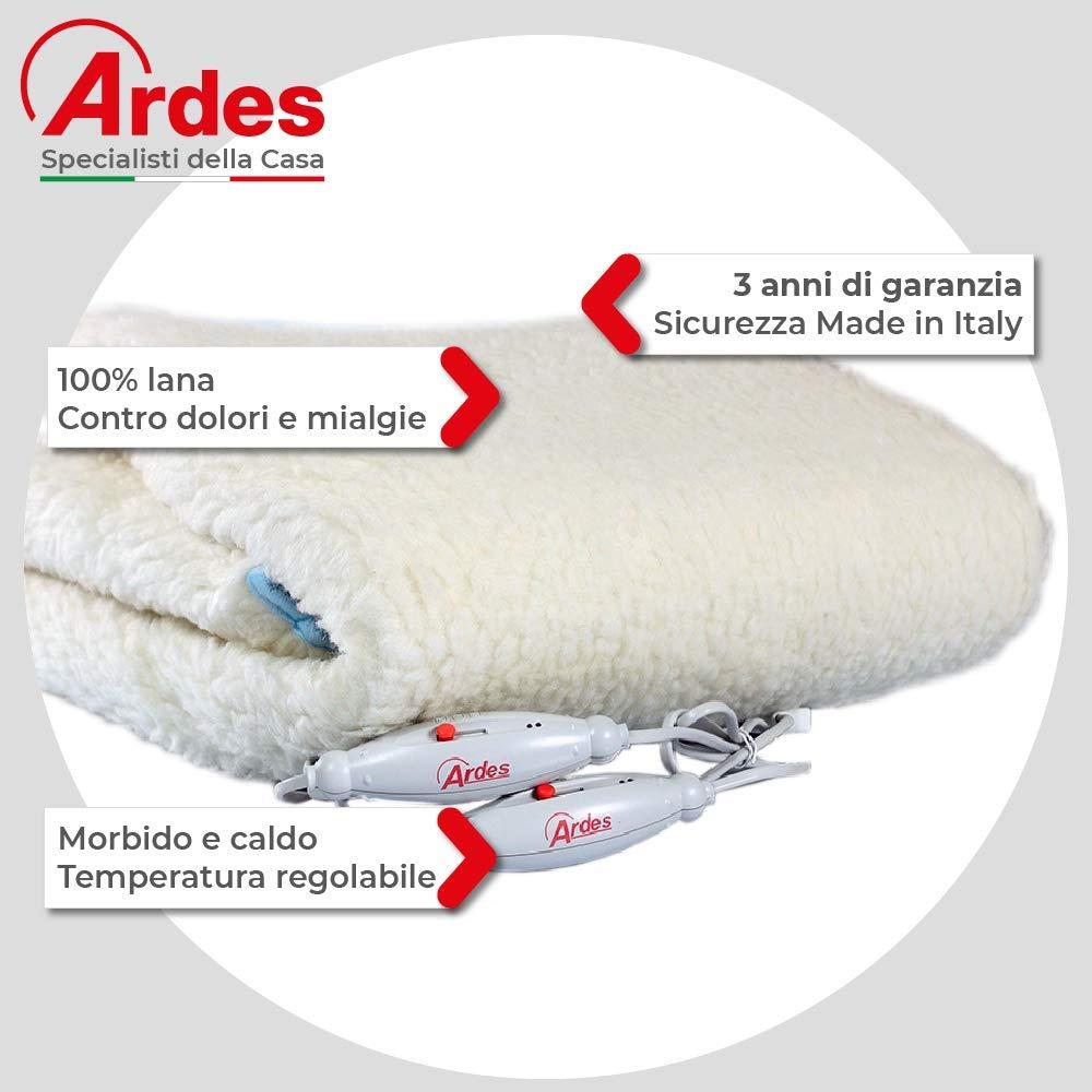 Scaldaletto Ardes Morpheo 422 Matrimoniale.Ardes Medicura Ar422 Scaldaletto Matrimoniale Morpheo 100 Pura Lana 150 X 160 Cm