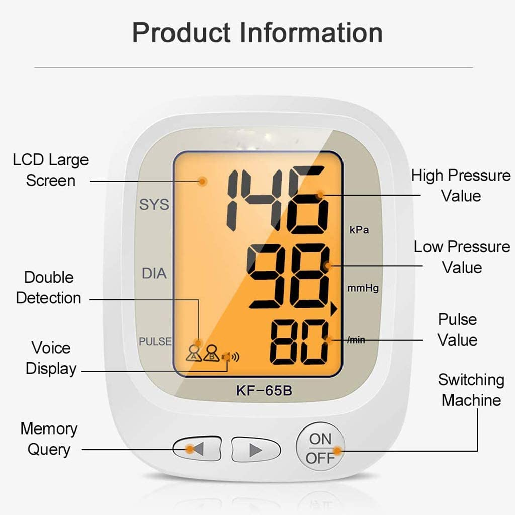 Two User Modes with 192 Memory Capacity YUEBAOBEI Blood Pressure ...