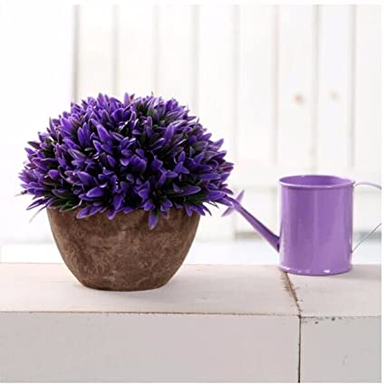 Pangun Colorido Artificial Jardineria Arbol Bola Plantas Maceta - Plantas-interior-con-flor