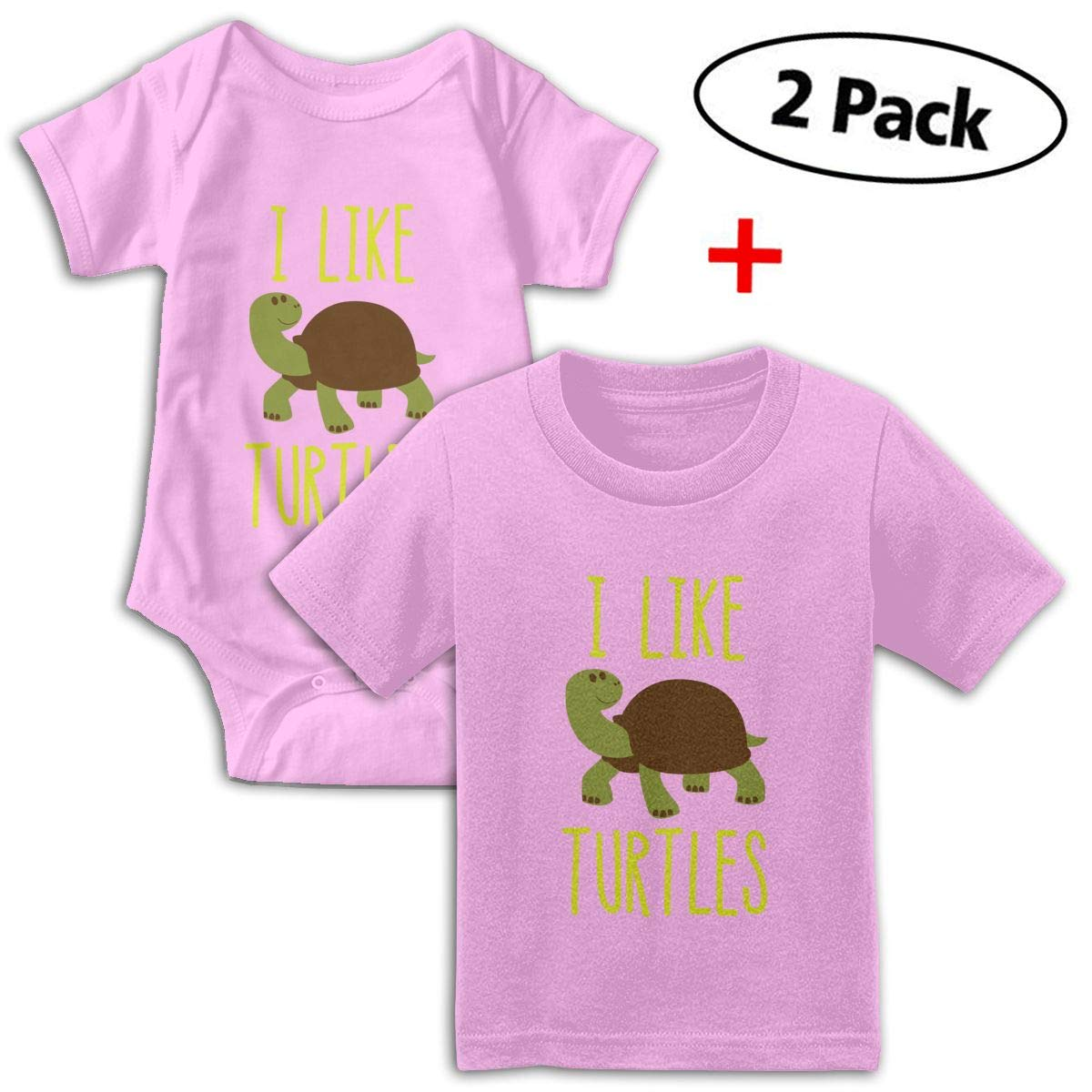I Like Turtles Babys Boys /& Girls Short Sleeve Baby Climbing Clothes And T-shirt