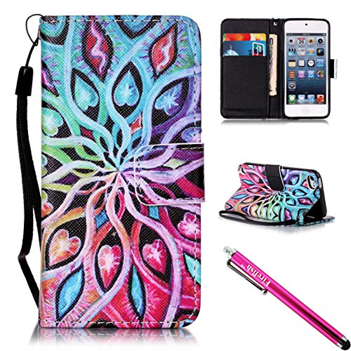 Wallet Case For Apple iPod touch 5/6 (Pink) - 6