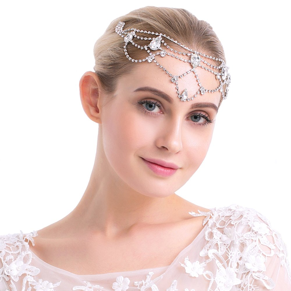 European and American creative design combs for luxurious diamond brides accessories