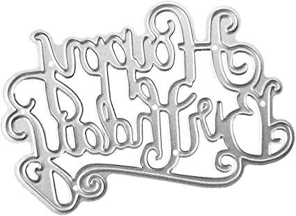 steel Embossing Metal Happy Birthday Circle Frame Stencil Cutting Dies