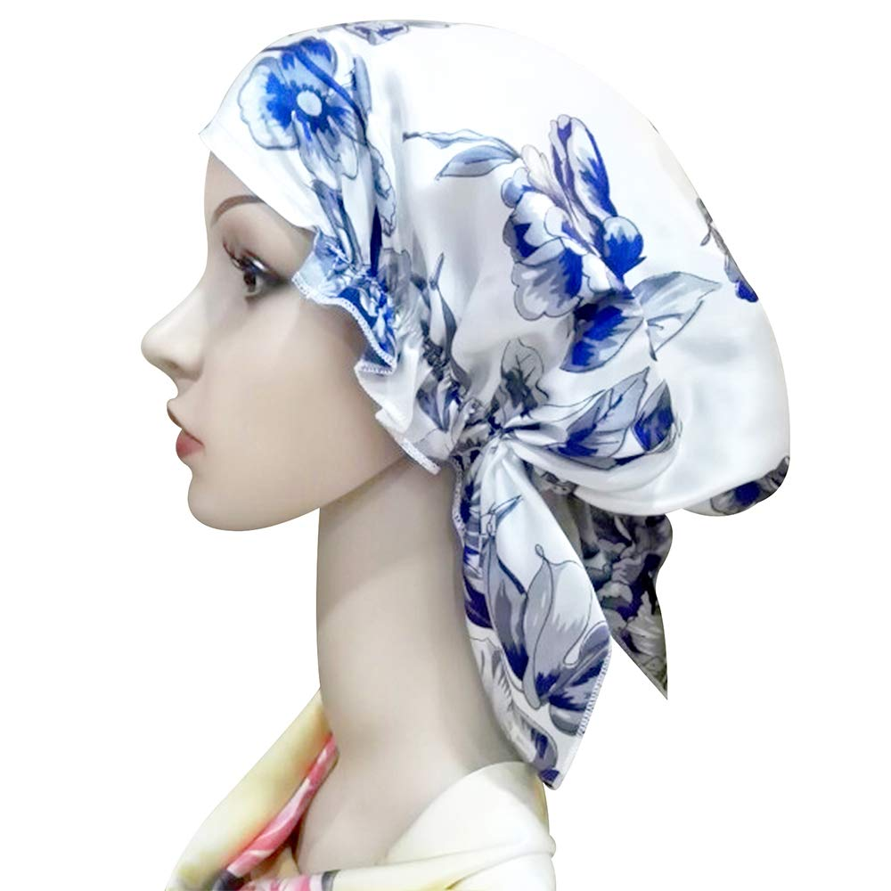 4140a5d88bc Zando Women s Soft Satin Lined Hat Pure Silk Night Sleeping Cap Hair Wrap  Turban Hat Beanie