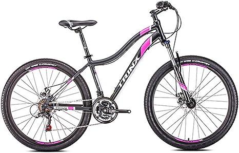 Bicicleta de Montaña para Mujer, 21 Velocidades Doble Freno Disco ...