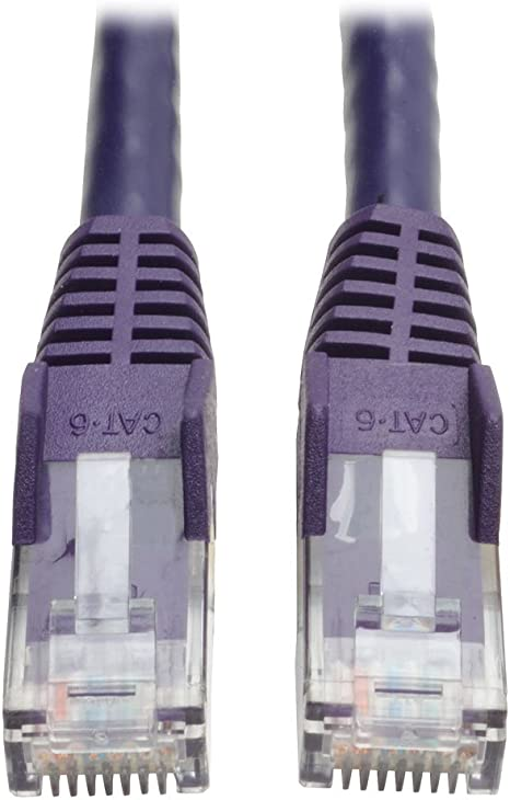 10 Pack 15 Feet Cat6 Ethernet Network Patch Cables Purple RJ45 m//m