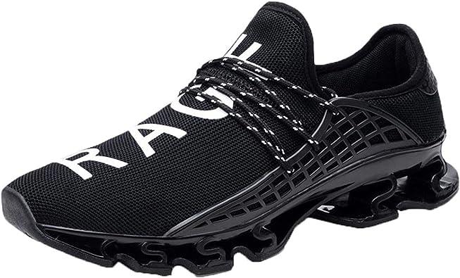 Men Elastic Mesh Sneakers Casual Sport Athletic Breathable Running Outdoor Shoes: Amazon.es: Zapatos y complementos