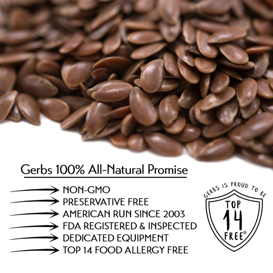 Semillas de lino GERBS, sin gluten, cacahuete, frutos secos ...