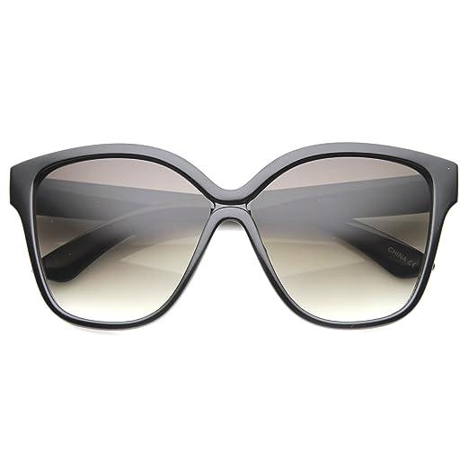 cfc30e9e3dc Women s Oversize Horn Rimmed Square Lens Butterfly Sunglasses 55mm  (Black Lavender)