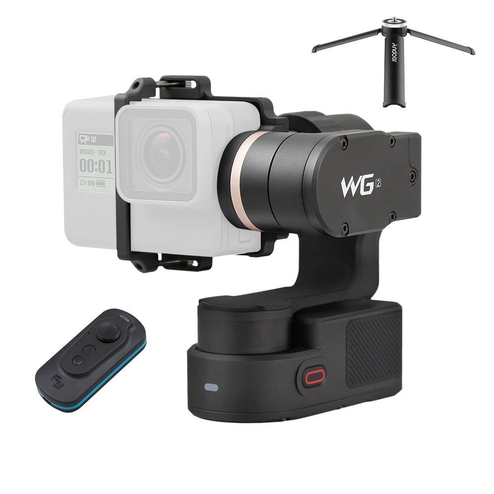 FeiyuTech WG2 3-Axis Waterproof Wearable Gimbal Support APP Wireless Remote Control with Remote Control for GoPro Hero5 Hero4 Session Xiaomi Yi and Other Action Cameras with Similar Dimensions by FeiyuTech