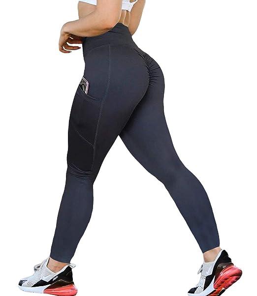 Amazon.com: KIWI RATA - Pantalones de yoga con cintura alta ...