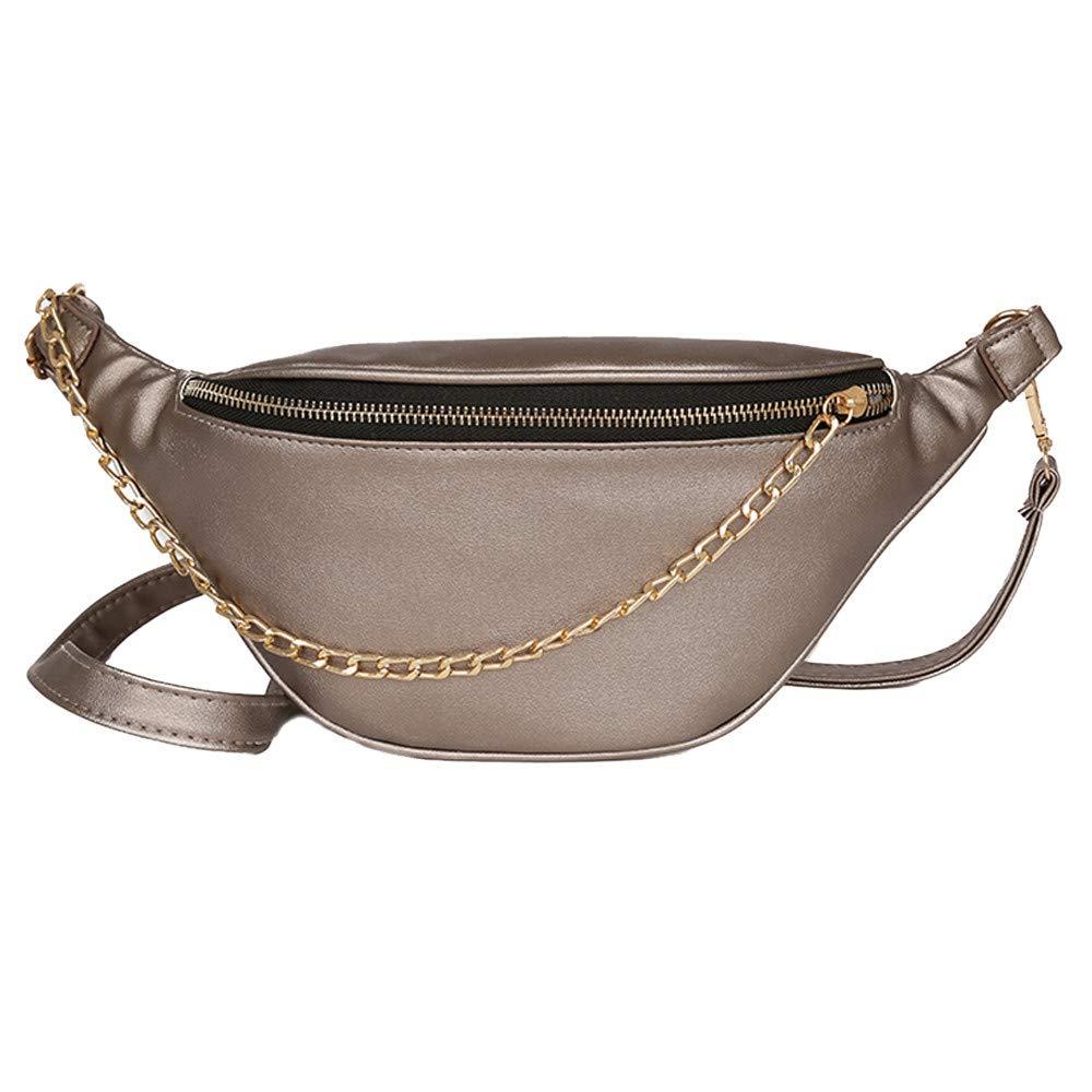 Theshy Fashion Neutral Sport Leather Beach Bag Chain Messenger Crossbody Bag Chest Bag