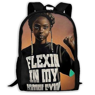 SARA NELL School Backpack Black Art African American Girl Come On Afro Girls Bookbag Casual Travel Bag For Teen Boys Girls | Kids' Backpacks