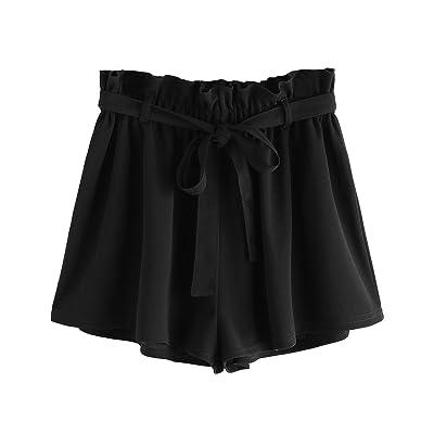 Romwe Women's Casual Elastic Waist Summer Shorts Jersey Walking Shorts   Amazon.com