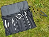 7 Piece Farrier's Tool Kit Set Horse Hoof Nippers Clincher Tester Knife Rasp + Fold Up Case