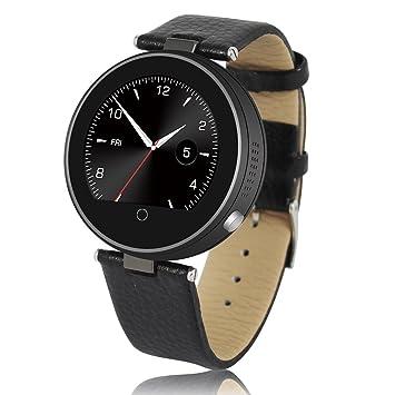 Zgpax - Smartwatch Reloj Inteligente Movil Ios Android (Siri, Correa Adjustable, Bluetooth, Despertador, Podómetro, Sueño, Remoto de Cámara), Negro