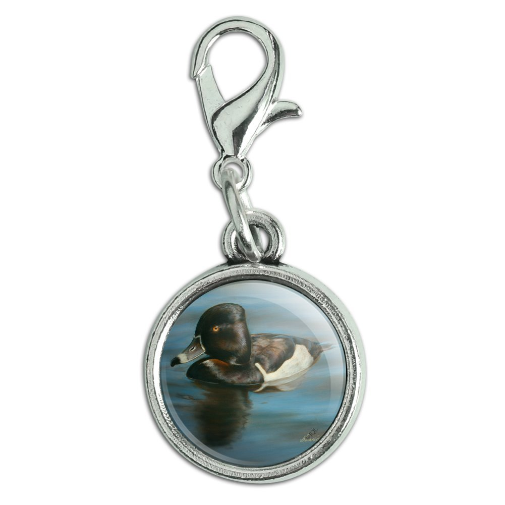 GRAPHICS /& MORE Ring-Necked Duck Antiqued Bracelet Pendant Zipper Pull Charm with Lobster Clasp