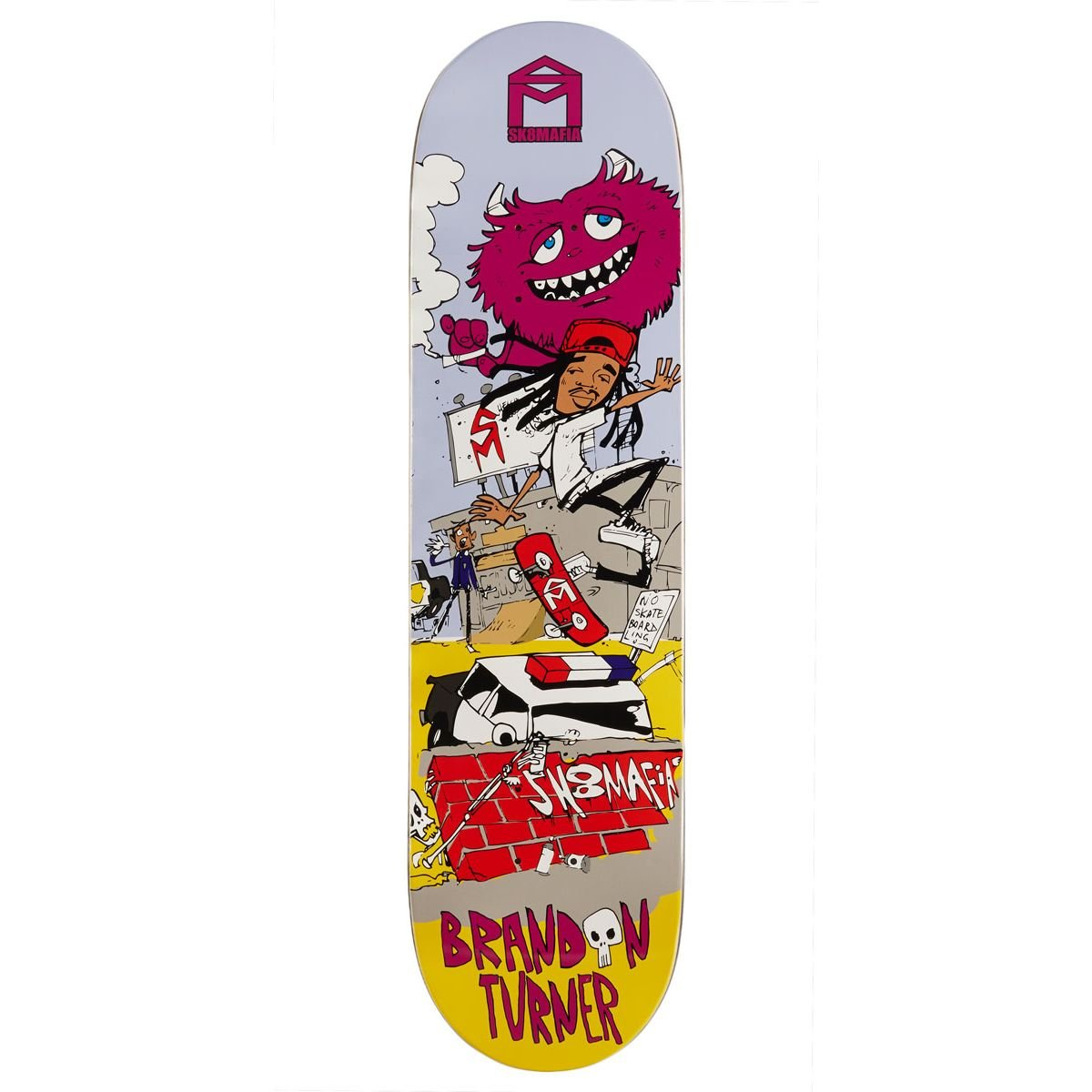 Sk8 Mafia Fun Turner Skateboard Deck - 8.10''