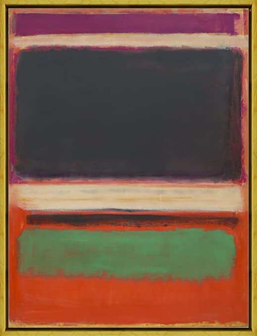 Framed Mark Rothko Number 1 Giclee Canvas Print Paintings Poster Reproduction
