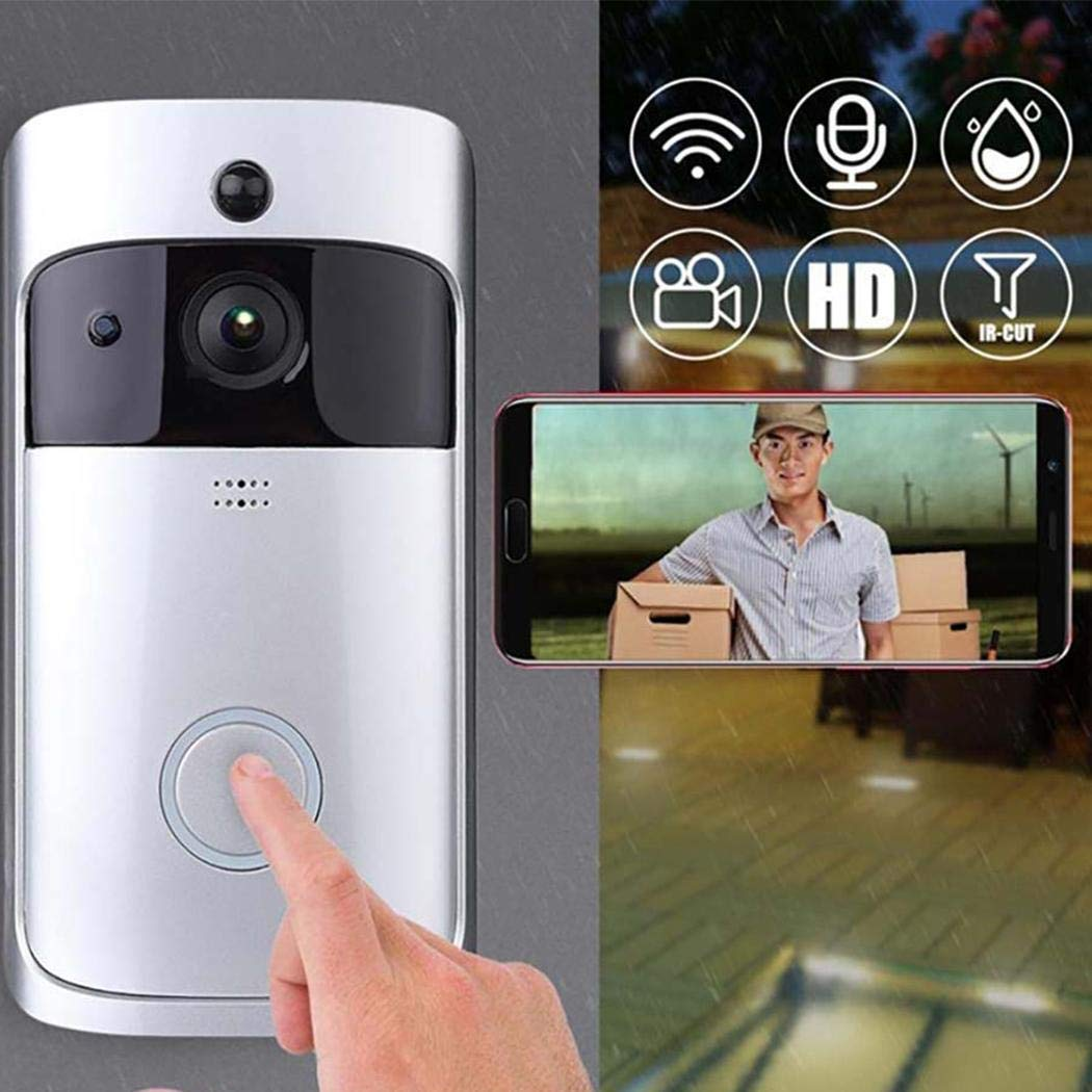 Mandii Video Wireless Doorbell WiFi HD Home Security Wide Angle Night Vision Doorbell Kits by Mandii (Image #4)