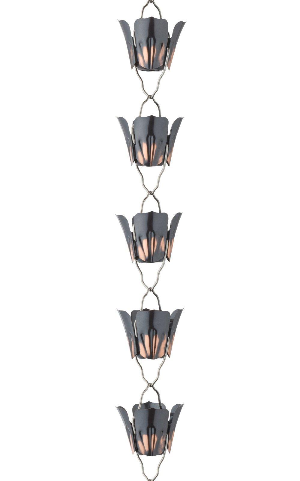 Migumo Rain Chain 9 Feet Length(Copper)