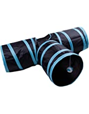 Jouet pour animal domestique Chiot Chat jouer Tunnel d'Exercice Grotte 3Way Y Forme pliable Tunnel